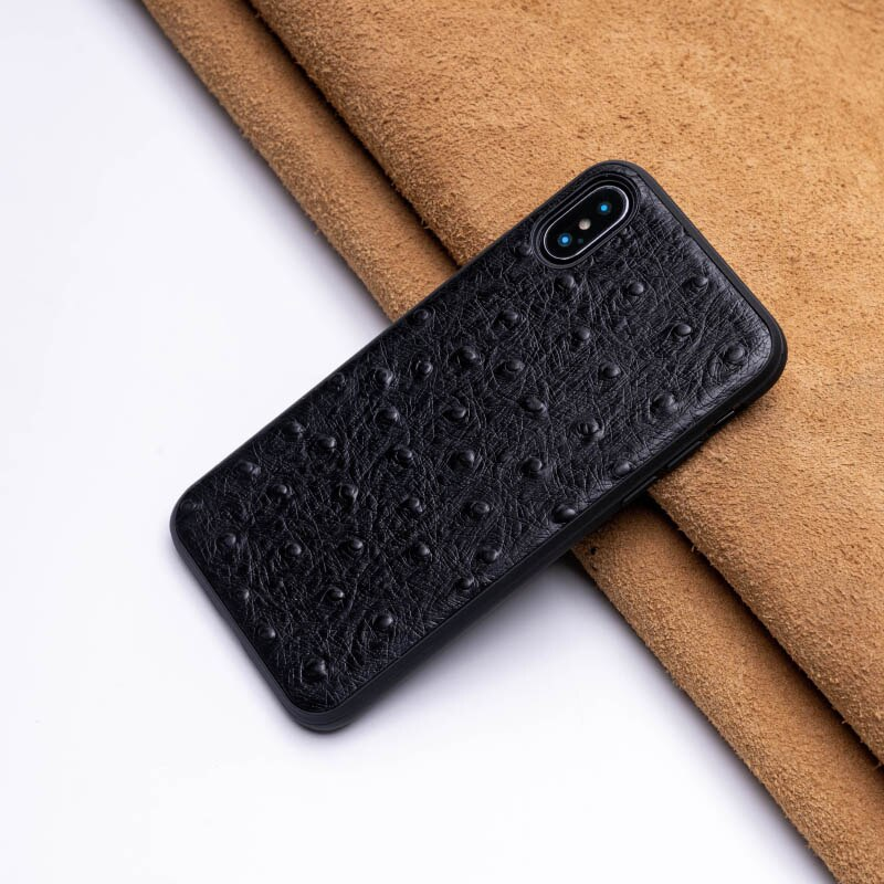 Ostrich Skin Phone Case For IPhone X XS Max XR Fitted Case For Apple 5 5S SE 6 6S 7 8 Plus Protect Phone Case