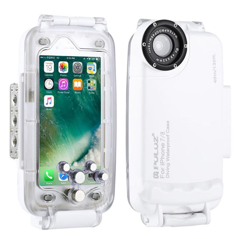 Case For iPhone XS Max X XS XR 7 8 Plus Cover Underwater Housing Diving Phone Protective Surfing Swimming Snorkeling Photo Video