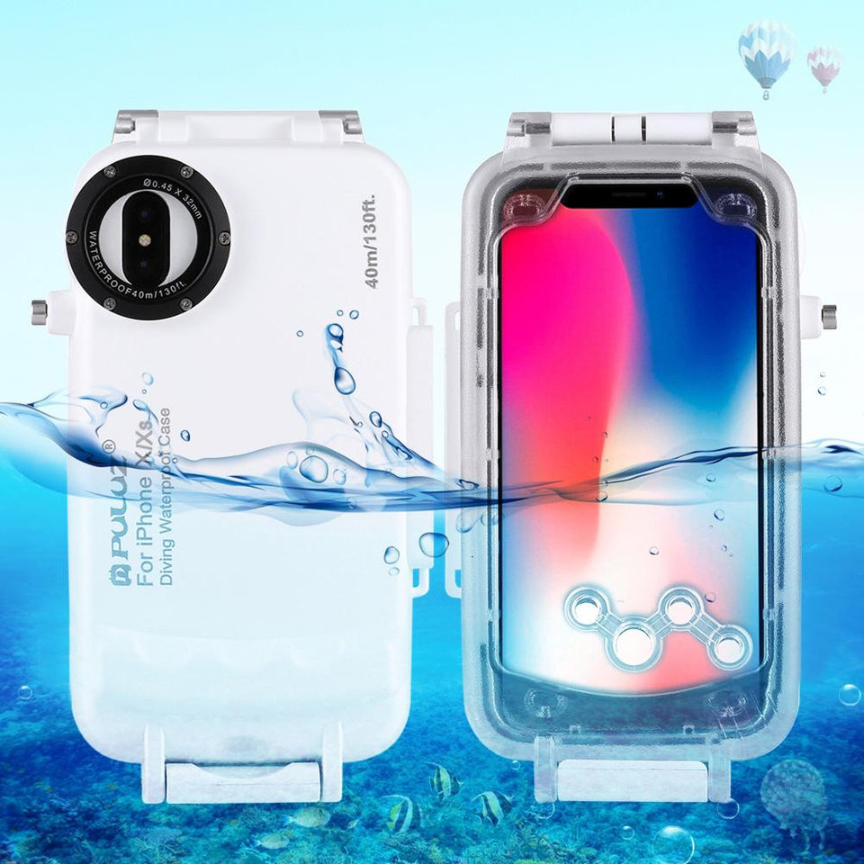 Underwater Housing Diving Phone Protective Case For iPhone XS Max X XS XR 7 8 Plus Cover Surfing Swimming Snorkeling Photo Video