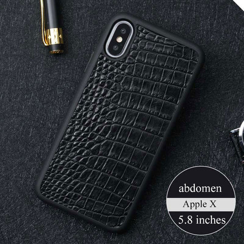 100% Genuine Crocodile Leather Luxury Case For iphone 11 X XR XS Max Cover for iPhone 7 8 6 5 Plus 6S Phone Cases 2019 funda Men
