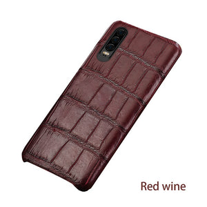 For Huawei p20pro natural crocodile leather high-end leather phone case for Huawei p30 pro p20 p30 fall protection sleeve