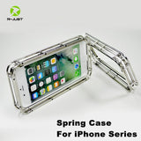 R-JUST Spring Metal Case for iPhone 7 8 Outdoor Camping Protector Phone Case Shockproof Shell Cover for iPhone 7 8 Plus