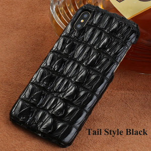 100% Genuine Crocodile Leather Case For iphone 11 11 Pro max Cover for iPhone XS Max 7 8 6 5 Plus 6S Phone Cases Luxury 2019