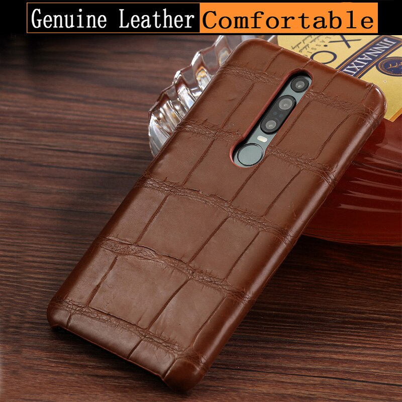 natural Genuine Leather luxurious phone case for Huawei Mate RS  9 8 9Pro 10Pro P20 Pro High end Crocodile skin protective case