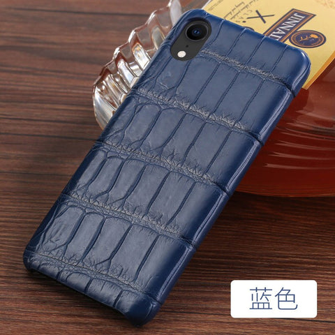 LANGSIDI Crocodile Luxury Genuine Leather phone case for iphone 11 pro X XS max XR 6 7 8 8plus 5s SE Original Real skin fundas