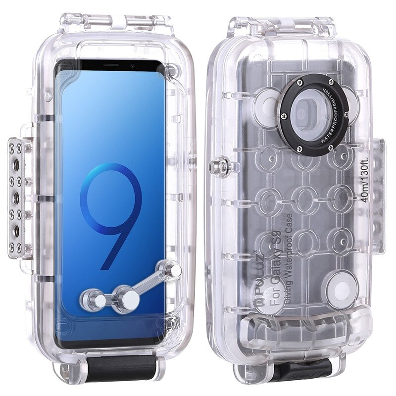 40m Waterproof Phone Case Diving Housing Photo Video Taking Underwater Cover for Samsung Galaxy S9/S9+ Android 8.0.0 or below