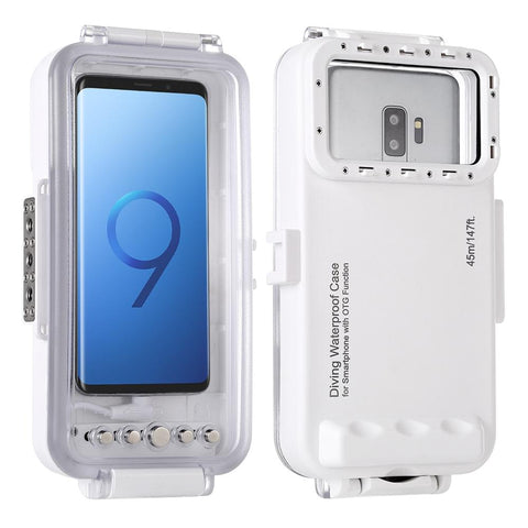 HAWEEL 45m Waterproof Diving Housing Photo Video Taking Underwater Case for Galaxy/ Huawei/ Xiaomi/ Google Android OTG Mobile