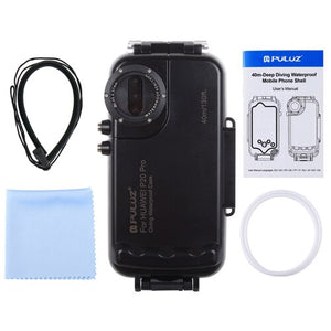 PULUZ 40m / 130ft P20 Pro Waterproof Diving Housing Photo Video Taking Underwater Cover Case for Huawei P20 Pro