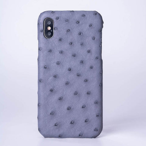 Ostrich Skin Phone Case For IPhone X XS Max XR Half-Wrapped Case For Apple 5 5S SE 6 6S 7 8 Plus Protect Phone Case
