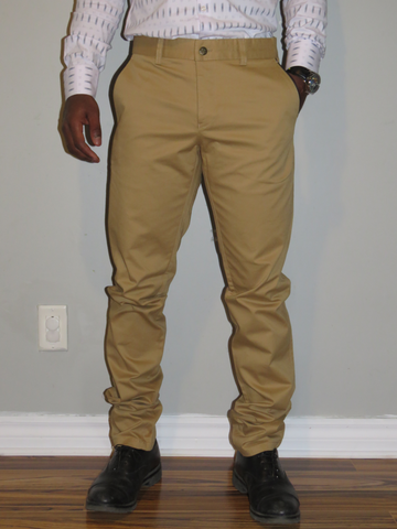 Beige Slim Fit Trouser|Wessi