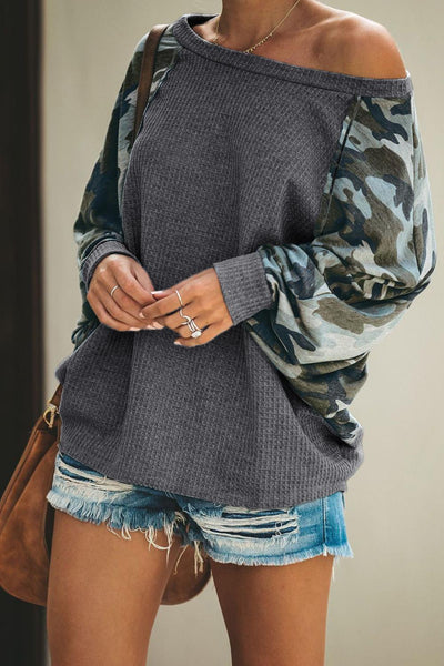 Squadron Thermal Camo Contrast Dolman Top