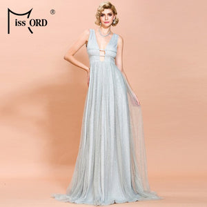 Missord 2020 Winter Women Off Shoulder Glitter Dress Female Maxi Party Dress Vestdios  FT18455-2