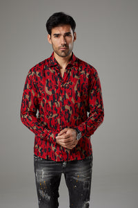 Premium Fantasy Shirt Red/Black Camouflage