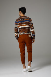 Fantasy Shirt Brown/Orange