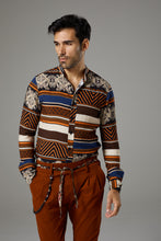 Load image into Gallery viewer, Fantasy Shirt Brown/Orange