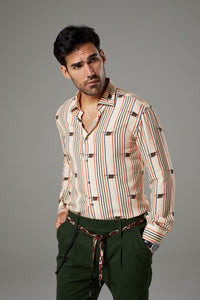 Premium Beige Shirt with Stripes