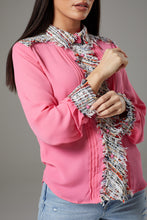Load image into Gallery viewer, Pink Shirt with Rugged Fabric Accents