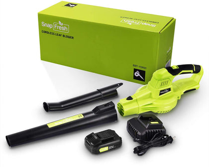 Cordless Leaf Blower - Electric Leaf Blower battery-powered, 20V Lithium Leaf Blower Cordless with Battery & Charger, Powerful