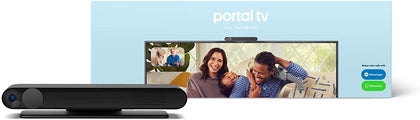 Facebook Portal TV - Smart Video Calling on Your TV with Alexa - Black