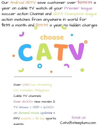 CATV 12 Months Subscription Single user