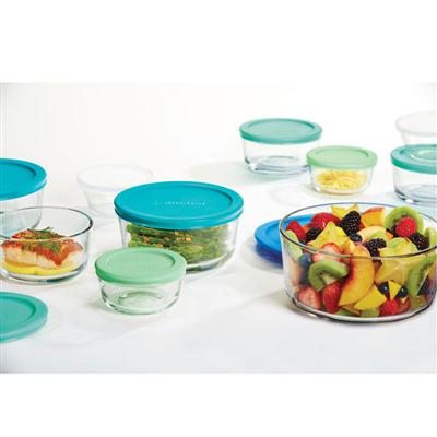 Food Storage Set 20pc Blu-Grn