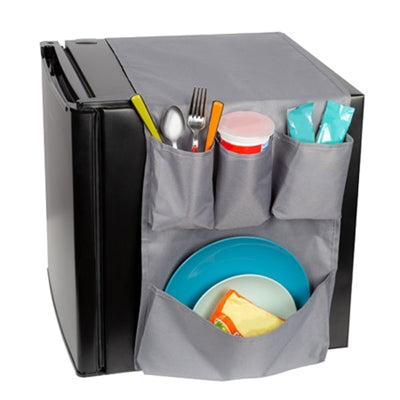 Mini Fridge Caddy Gray