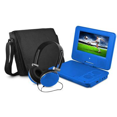 "7"" DVD Player Bundle Blue"