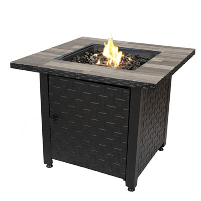 LP Gas Fire Table Blk Grey Blue Rhino GAD15262SP Fire Pit