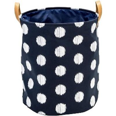Canvas Scribble Hamper Blue