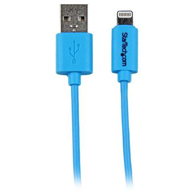 1m Blue Lightning USB Cable