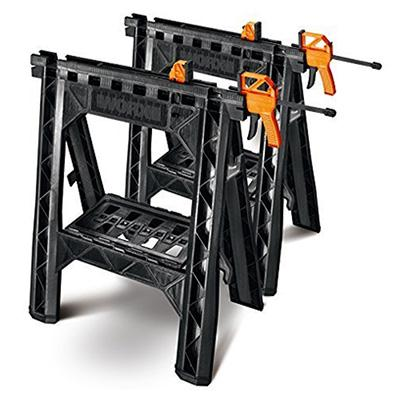 Worx Clamping Sawhorses with Bar Clamps