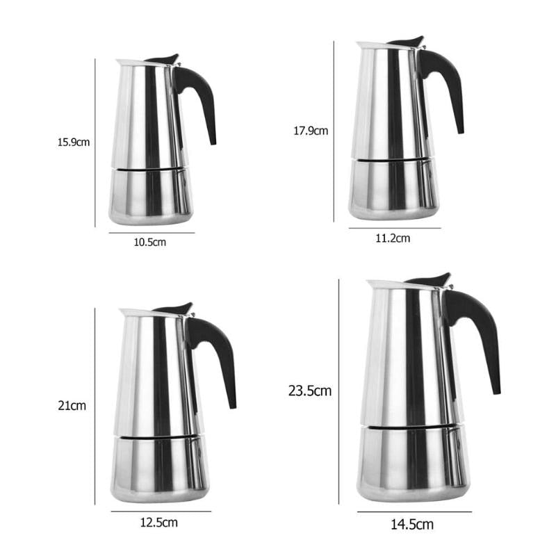 Coffee Pot Stainless Steel Kettle Coffee Brewer Kettle Pot Portable Espresso