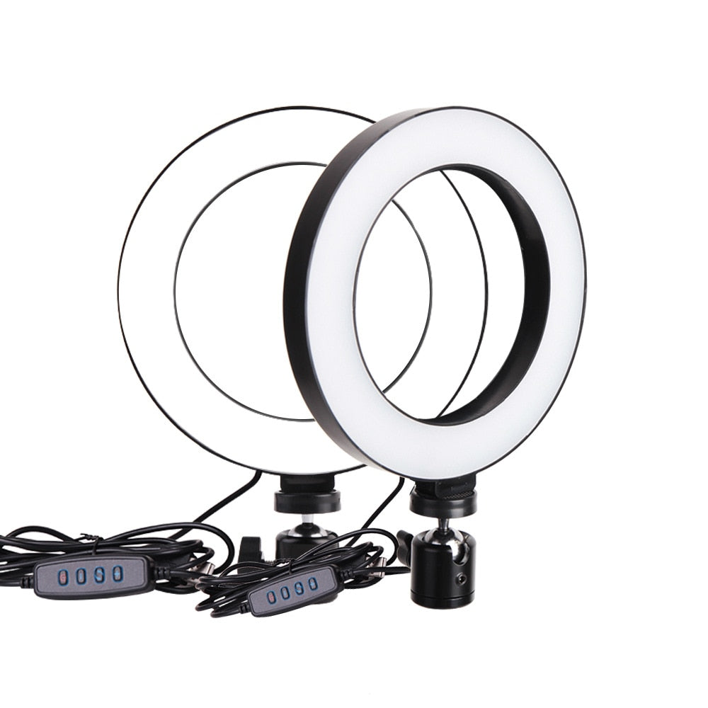 Video/photography selfie stick Mini Dimmable LED Ring Light