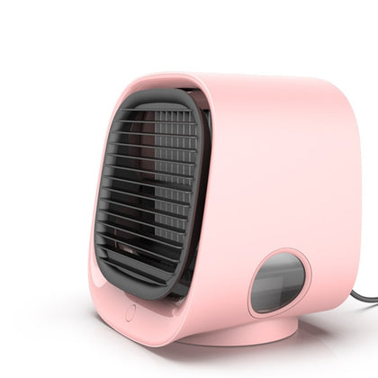 USB Mini Air Conditioner with Night Light Air Cooling Fan
