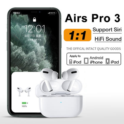 Airpod Pro 3 Apple earplug 1:1 Apple iphone Clone Airpod Bluetooth Earphone Wireless Headphones