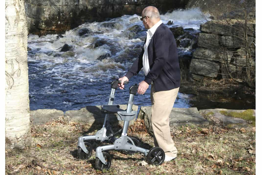 Lightweight Rollator Walker Offers Great Maneuverability and Stability