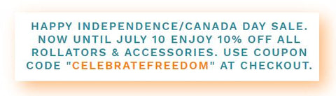 INDEPENDENCE DAY SALE ON ROLLATOR WALKERS