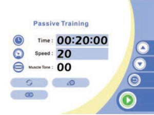Sent time and speed for passive training