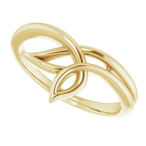 14 Karat Yellow Gold Freeform Ring