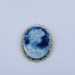 14 Karat Yellow Gold Cameo Pin/Pendant