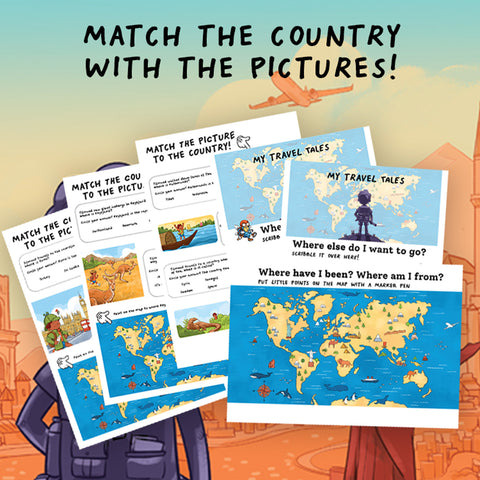 Tilmund learning countries printable