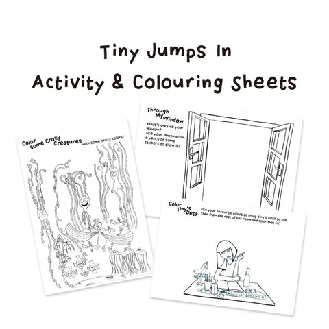 Tiny Jumps In Activity and Coloring Sheets