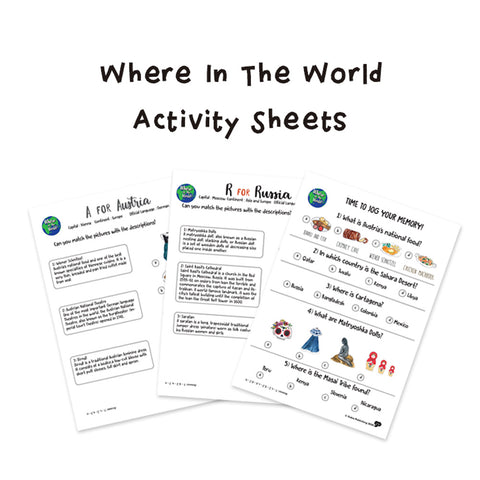 Country Flashcards Activity Sheets