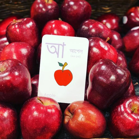 apple flashcard