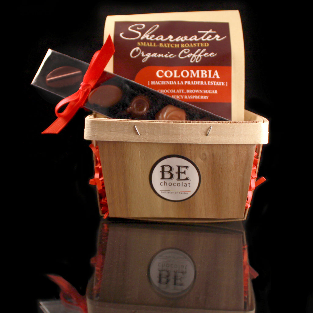 A Shearwater and BE Chocolat Gift Basket