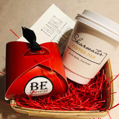 Shearwater gift card and BE Chocolat box