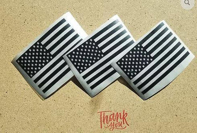 American flag decal set of 2 - OGRAPHICS