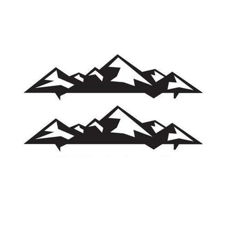 Mountain / stickers / graphics x2 macbook sticker out door sticker 330