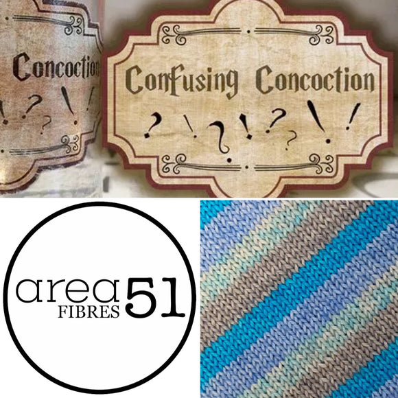 CONFUSION CONCOCTION Sock Yarn | Self-Striping Yarn | Fingering Weight Yarn | Dyed to Order