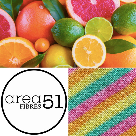 CITRUS SURPRISE | Sock Yarn | Self-Striping Yarn | Fingering Weight Yarn | Dyed to Order